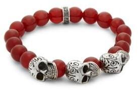 King Baby Studio Beaded Skull Bracelet