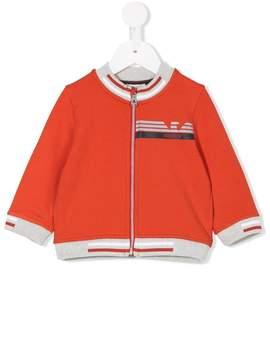 Emporio Armani Kids logo print high-neck sweatshirt
