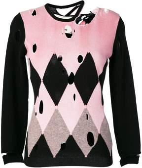 Ballantyne distressed diamond sweater
