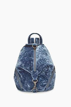 Rebecca Minkoff Velvet Medium Julian Backpack - BLUE - STYLE