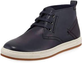 English Laundry St. James Leather High-Top Sneaker, Blue