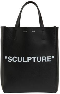 Sculpture Saffiano Leather Tote Bag
