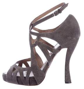 Philosophy di Alberta Ferretti Suede Cutout Sandals
