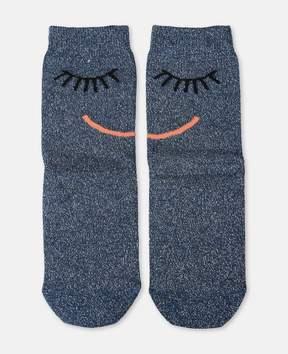 Stella McCartney trumpet blue face socks