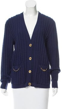 Celine Wool Cable Knit Cardigan