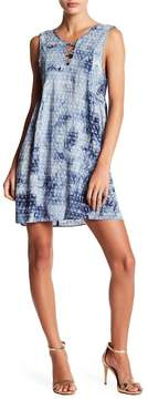 BCBGeneration Tie-Dye Lattice A-Line Dress