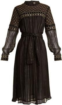 DAY Birger et Mikkelsen DODO BAR OR Gilda embroidered tulle-trimmed chiffon dress