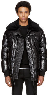 DSQUARED2 Black Down Shiny Puffer Jacket