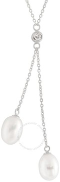 Bella Pearl Sterling Silver Lariat Necklace