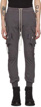 Rick Owens Grey Cotton Jog Cargo Pants