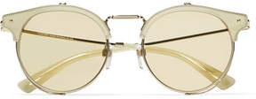 Valentino Cat-eye Gold-tone And Acetate Sunglasses