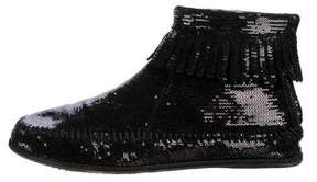 Marc Jacobs Sequined Fringe Booties
