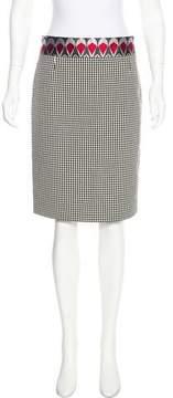 Christian Lacroix Silk-Trimmed Pencil Skirt