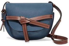 Loewe Gate Small Textured-leather Shoulder Bag - Storm blue