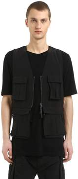 11 By Boris Bidjan Saberi Nylon Vest W/ Detachable Belt Pack