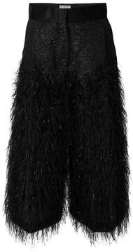 Alberto Biani fluffy cropped trousers