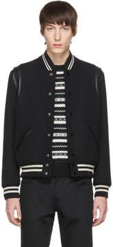 Saint Laurent Black Classic Teddy Bomber Jacket