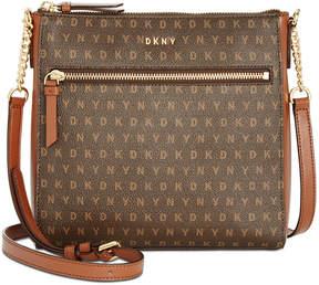 DKNY Signature Top-Zip Crossbody, Created for Macy's