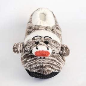 Muk Luks Girls Sock Monkey Slippers