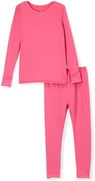 Cuddl Duds Beetroot Pink Comfortech Top & Leggings - Girls