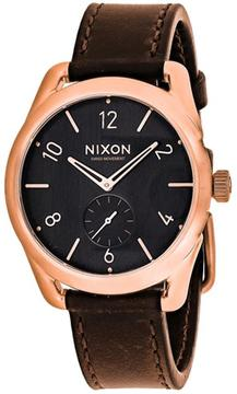 Nixon C39 A459-1890 Men's Brown Leather and Stainless Steel Chronograph Watch
