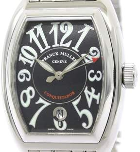 Franck Muller Conquistador 8001SC Stainless Steel Automatic 35mm Mens Watch