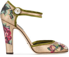 Dolce & Gabbana Hand Painted Mary Jane Pumps