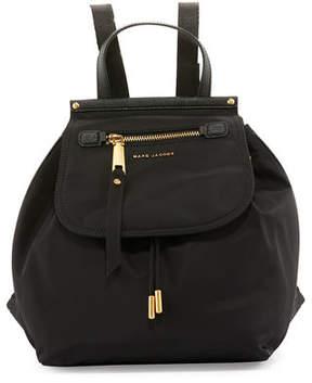 Marc Jacobs Trooper Nylon Flap Backpack - BLACK - STYLE