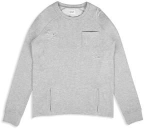 Hudson Boys' Distressed Raglan Sweatshirt - Little Kid, Big Kid