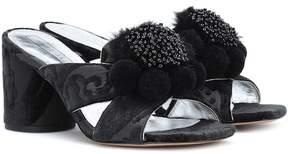 Marc Jacobs Embellished jacquard sandals
