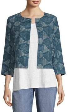 Eileen Fisher Printed Cotton Jacket