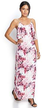 Forever 21 Flounced Floral Maxi Dress