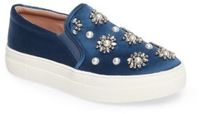 Topshop Women's Tilt Embellished Slip-On Sneaker
