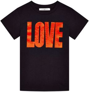 Givenchy Metallic Love Motif Short Sleeve T-Shirt