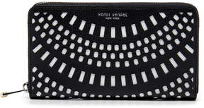 Henri Bendel West 57Th Perforated Zip Around Continental Wallet