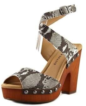 Lucky Brand Nessah Open Toe Synthetic Platform Sandal.