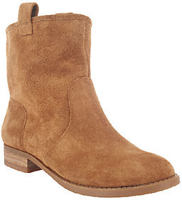 Sole Society Suede Ankle Boots - Natasha