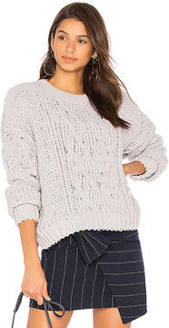 J.o.a. Side Slit Cable Front Sweater