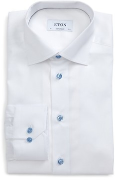 Eton Men's Contemporary Fit Signature Twill Dress Shirt