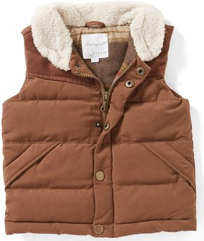 Starting Out Baby Boys 12-24 Months Sherpa Zip-Front Vest