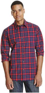 Joe Fresh Men's Plaid Shirt, Brick Red (Size S)