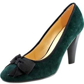 Isaac Mizrahi Julia Women W Round Toe Suede Green Heels.