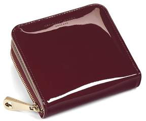 Aspinal of London Mini Continental Zipped Coin Purse In Deep Shine Cherry Patent