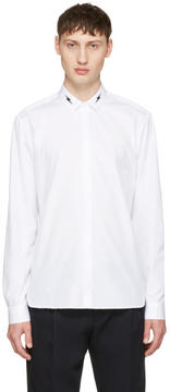 Neil Barrett White Thunderbolt Collar Shirt