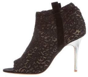 Laurence Dacade x Thakoon Crochet Peep-Toe Booties