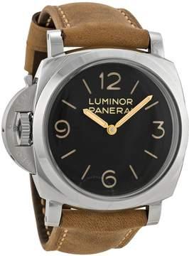 Panerai Luminor 1950 Left-handed 3 Days Acciaio Black Dial Men's Watch