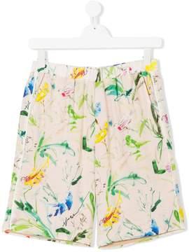 No.21 Kids TEEN printed shorts
