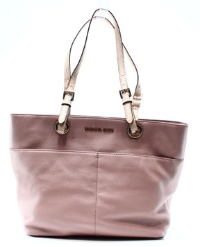 Michael Kors Pink Fawn Leather Bedford Pocket Handbag Tote Purse - PINKS - STYLE