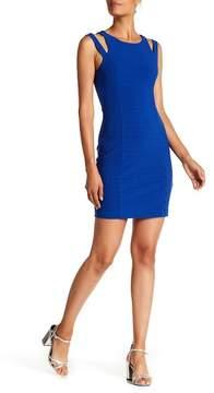 GUESS Shoulder Cutout Solid Dress