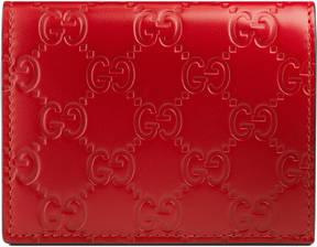 Gucci Signature card case - RED GUCCI SIGNATURE - STYLE